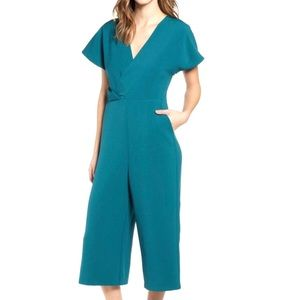 Leith jumpsuit in teal NWT